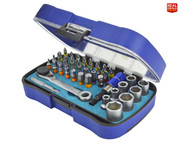 Faithfull XMS18BITSOCK Screwdriver Bit & Socket Set, 42 Piece (FAISBSET42)