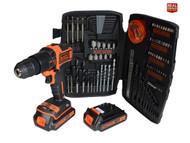 Black & Decker XMS18CDKIT Cordless Combi Drill 18V 2 x 1.5Ah Li-ion