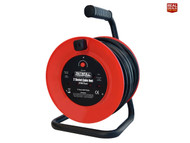 Faithfull XMS18REEL20 Open Frame Cable Reel 240V 20m 13A 2 Sockets (FPPCR20M)