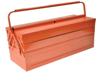 Bahco BAH3149OR - Orange Metal Cantilever Tool Box 21in