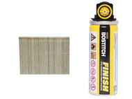 Bostitch BOS16G25FC - 25mm 16 Gauge Straight Galvanised Finish Nails & Fuel Cell (2000)