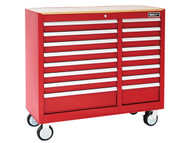Britool Expert BRIE010148B - Roller Cabinet 16 Drawer Wide - Red