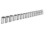 Britool Expert BRIE032902B - Socket Set of 16 Metric 1/2in Drive