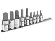 Britool Expert BRIE034802B - Hex Bit Socket Set of 9 1/4 & 3/8in Drive