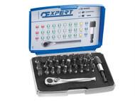 Britool Expert BRIE131702B - 1/4in Bit Set 32 Piece + Accessories