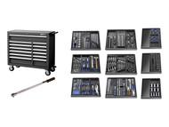 Britool Expert BRIE220334B - E220334B Roller Cabinet Toolkit 390 Piece Black