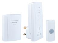 Byron BYRB323 - B323 Portable Wireless Plug-Through Door Chime Kit 50m