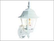 Byron BYRES94W - ES94W 4-Panel Coach Lantern With PIR White