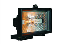 Byron BYRHL120 - HL120 Halogen Floodlight Black 120 Watt