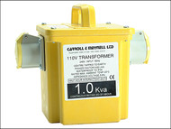 Carroll & Meynell C/M10002 - 1000/2 Transformer Twin Outlet Rating 1Kva Continuous 500va
