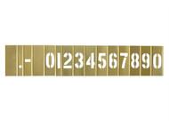 C H Hanson CHH10011 - 2in Brass Stencil Set Numbers 15-Piece Set