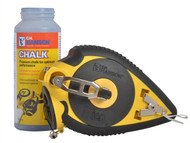 C H Hanson CHH12705 - Chalk Hog 100ft/30m & 4.oz Blue Chalk