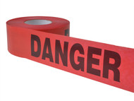 C H Hanson CHH14998 - Heavy Grade Barricade Tape - Danger Red 305m (1000ft)