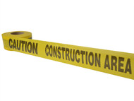 C H Hanson CHH16009 - Standard Grade Barricade Tape - Caution Construction Area Yellow 305m (1000ft)