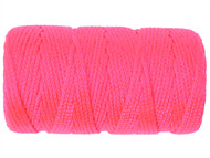 C H Hanson CHH54150 - Braided Nylon Line Refill 76m (250ft) Fluorescent Pink