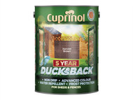 Cuprinol CUPDBHB5L - Ducksback 5 Year Waterproof for Sheds & Fences Harvest Brown 5 Litre