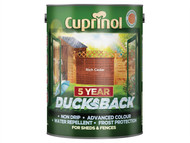 Cuprinol CUPDBRC5L - Ducksback 5 Year Waterproof for Sheds & Fences Rich Cedar 5 Litre