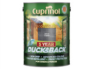 Cuprinol CUPDBSC5L - Ducksback 5 Year Waterproof for Sheds & Fences Silver Copse 5 Litre