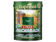 Cuprinol CUPDBWM5L - Ducksback 5 Year Waterproof for Sheds & Fences Woodland Moss 5 Litre