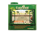 Cuprinol CUPDON25L - UV Guard Decking Oil Natural 2.5 Litre