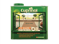 Cuprinol CUPDONC25L - UV Guard Decking Oil Natural Cedar 2.5 Litre