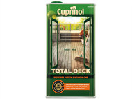 Cuprinol CUPTDC5L - Total Deck Restore & Oil Wood Clear 5 Litre