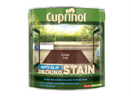 Cuprinol CUPUTDSCF25L - Anti Slip Decking Stain Cedar Fall 2.5 Litre