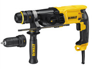 DEWALT DEWD25134K - D25134K SDS 3 Mode QCC Hammer Drill 800 Watt 240 Volt