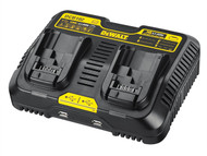 DEWALT DEWDCB102 - DCB102 XR Jobsite Dual Port & USB Charging Station 10.8-18 Volt Li-Ion