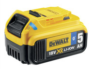 DEWALT DEWDCB184B - DCB184B Bluetooth Slide Li-Ion Battery Pack 18 Volt 5.0Ah