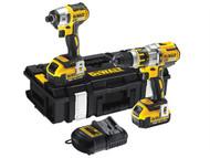 DEWALT DEWDCK255P2 - DCK255P2 Brushless Twin Pack 18 Volt 2 x 5.0Ah Li-Ion