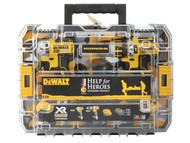 DEWALT DEWDCK259M2T - Help For Heroes Brushless Twin Pack 18 Volt 2 x 4.0Ah Li-Ion