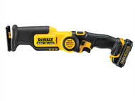 DEWALT DEWDCS310S2 - DCS310S2 Cordless Pivot Reciprocating Saw 10.8 Volt 2 x 1.5ah Li-Ion