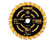 DEWALT DEWDT10301QZ - Circular Saw Blade 165 x 20mm x 40T Corded Extreme Framing