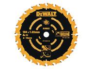 DEWALT DEWDT10302QZ - Circular Saw Blade 184 x 16mm x 24T Corded Extreme Framing