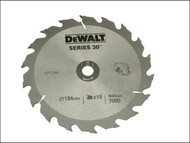 DEWALT DEWDT1149QZ - Circular Saw Blade 184 x 16mm x 18T Series 30 Fast Rip