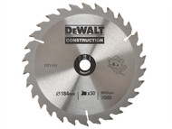 DEWALT DEWDT1151QZ - Circular Saw Blade 184 x 16mm x 30T Series 30 General Purpose