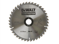 DEWALT DEWDT1155QZ - Circular Saw Blade 216 x 30mm x 40T Series 30 General-Purpose