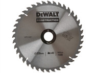 DEWALT DEWDT1157QZ - Circular Saw Blade 235 x 30mm x 40T Series 30 General-Purpose