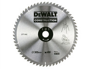 DEWALT DEWDT1162QZ - Construction Circular Saw Blade 305 x 30mm 60T