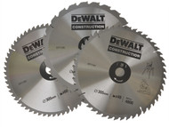 DEWALT DEWDT1174QZ - Circular Saw Blades 305mm Set of 3 in Auminium Case