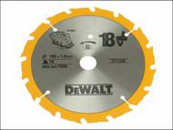 DEWALT DEWDT1208QZ - Trim Saw Blade 165 x 20mm x 16T Fast Rip