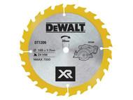 DEWALT DEWDT1209QZ - Trimsaw Blade 165 x 20mm x 24T