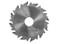 DEWALT DEWDT1306QZ - DT1306 Extreme Biscuit Jointer Blade 102 x 22 x 12 Tooth