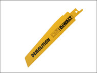 DEWALT DEWDT2303QZ - Sabre Blade Demolition Metal Sheet Profile & Tube 152mm Pack of 5