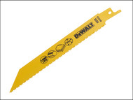 DEWALT DEWDT2348QZ - Bi Metal Sabre Blade for Plastic & Pipes 152mm Pack of 5
