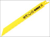 DEWALT DEWDT2387QZ - Bi Metal Sabre Blade for Plastic & Pipes 203mm Pack of 5