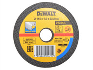 DEWALT DEWDT3503QZ - Bonded Discs In Tin 115mm x 1mm x 22.2mm (Pack of 10)