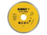 DEWALT DEWDT3714QZ - Diamond Tile Blade 110mm x 20mm