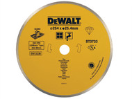 DEWALT DEWDT3733XJ - Ceramic Diamond Tile Blade 254mm x 25.4mm